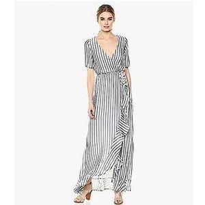 NWT Rachel Pally Striped Empire Wrap Maxi Dress